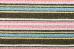 Horizontal Brown Pink Knitting or Knitted Fabric Texture Pattern Royalty Free Stock Photography