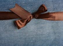 Horizontal brown ribbon close up Stock Image