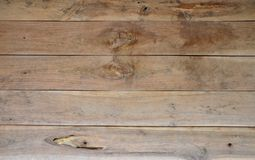 Horizontal brown wood texture background Royalty Free Stock Image