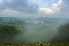 Horizontal brumeux Image libre de droits
