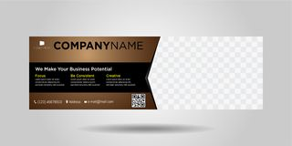 Horizontal business banners simple modern design-09 royalty free illustration