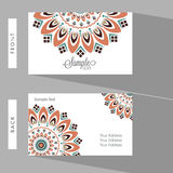 Horizontal Business Card or Visiting Card. Royalty Free Stock Photo