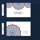 Horizontal Business Card or Visiting Card. Royalty Free Stock Images