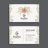 Horizontal business card or visiting card set. Royalty Free Stock Photos
