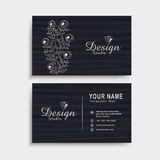 Horizontal business card or visiting card set. Royalty Free Stock Photos