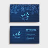 Horizontal business card or visiting card set. Stock Photography