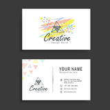 Horizontal business card or visiting card set. Stock Images