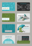 Horizontal Business Cards Stock Photography