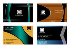 4 horizontal business cards Stock Photography