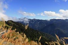 Horizontal célèbre de Taiwan : Montagne de Hehuan Photographie stock libre de droits