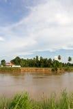 Horizontal côtier d'érosion de fleuve. images stock