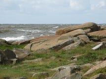 Horizontal côtier rocheux Images stock