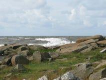 Horizontal côtier rocheux Photos libres de droits