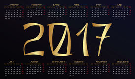 Horizontal calendar 2017 year. Chinese New Year 2017 rooster design royalty free illustration