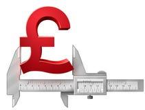 Horizontal caliper measures pound symbol Royalty Free Stock Photo