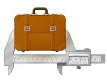 Horizontal caliper measures suitcase Royalty Free Stock Image