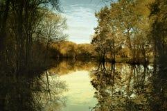 Horizontal calme d'automne Images libres de droits