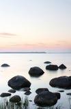 Horizontal calme de l'eau Image libre de droits