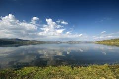 Horizontal calme de rive avec Photos libres de droits