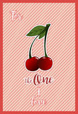 A horizontal card for st.Valentine`s day with greeting For the one I love Royalty Free Stock Images