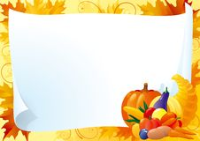Horizontal card for thanksgiving Royalty Free Stock Image