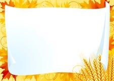 Horizontal card for thanksgiving Stock Image