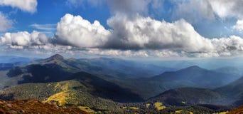 Horizontal carpathien photo libre de droits