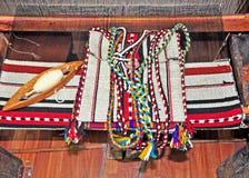 Horizontal carpet loom Stock Image