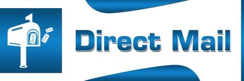 Horizontal carré bleu de courrier direct Image libre de droits