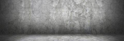 Horizontal cement wall and floor with shadow for pattern and bac Stock Photo