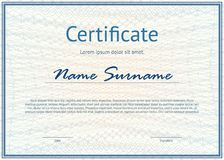 Horizontal certificate with pattern royalty free illustration
