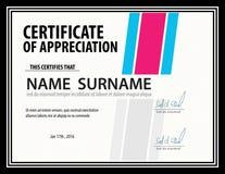 Horizontal certificate template,diploma,Letter size ,vector stock illustration
