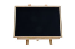 Horizontal Chalkboard. A chalkboard with the wooden fram and stand Stock Photo