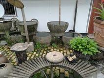Horizontal chinois de jardin images stock