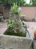 Horizontal chinois de jardin photographie stock