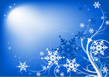 Horizontal Christmas background blue Royalty Free Stock Photo