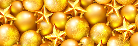 Horizontal Christmas banner Stock Photo