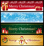 Horizontal christmas banners. Stock Photo