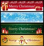 Horizontal christmas banners. royalty free illustration