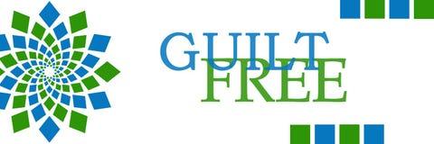 Horizontal circular azulverde libre de la culpabilidad stock de ilustración