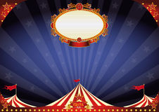 Horizontal Circus night background Stock Image