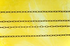 Horizontal clock chains Royalty Free Stock Photography