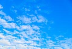 Horizontal clouds on a blue evening sky. Horizontal clouds on a blue sky Royalty Free Stock Photos