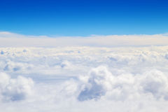 Horizontal cloudscape scenery Stock Photo