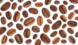 Horizontal coffee  background. Coffee beans as the background. Isolated Stock Images
