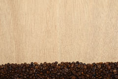 Horizontal coffee beans Stock Photos
