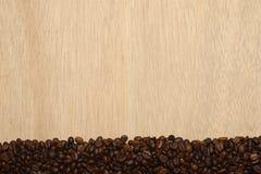 Horizontal coffee beans Stock Photos