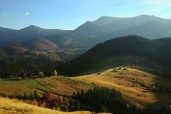 Horizontal coloré d'automne Photos stock