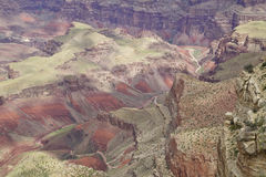 Horizontal coloré de canyon grand Images libres de droits