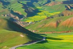 Horizontal coloré de montagne Photos libres de droits